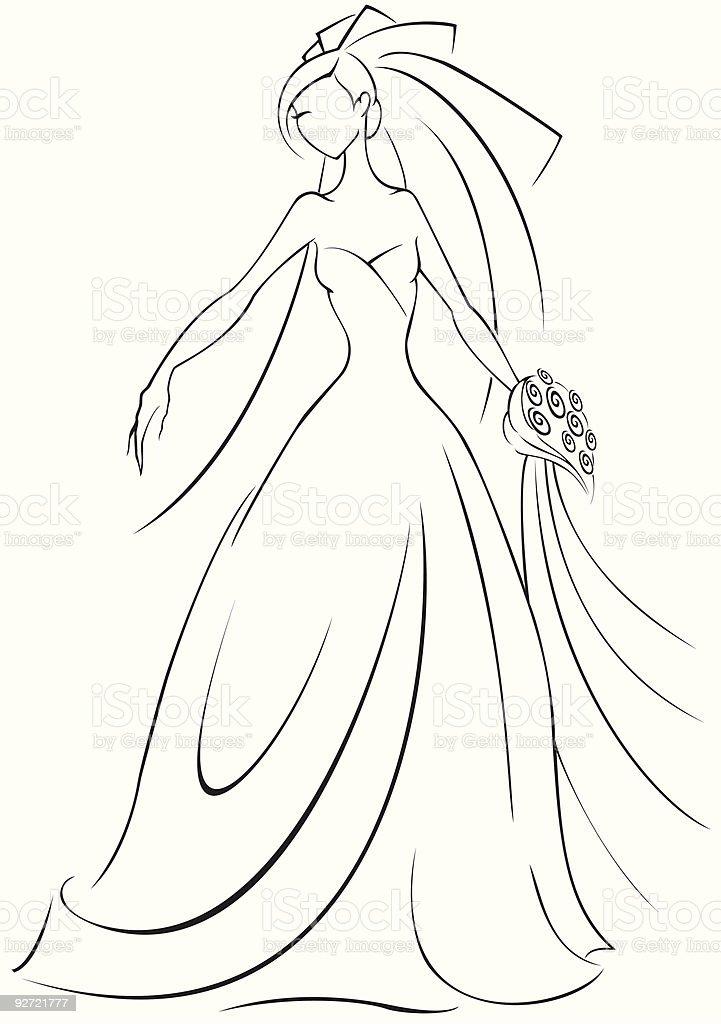 Bride vector art illustration