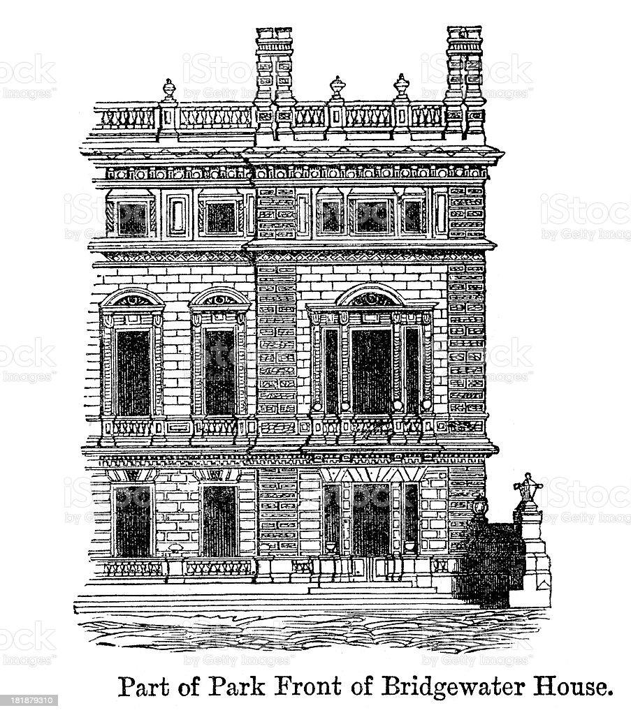 Bridgewater House, Westminster vector art illustration