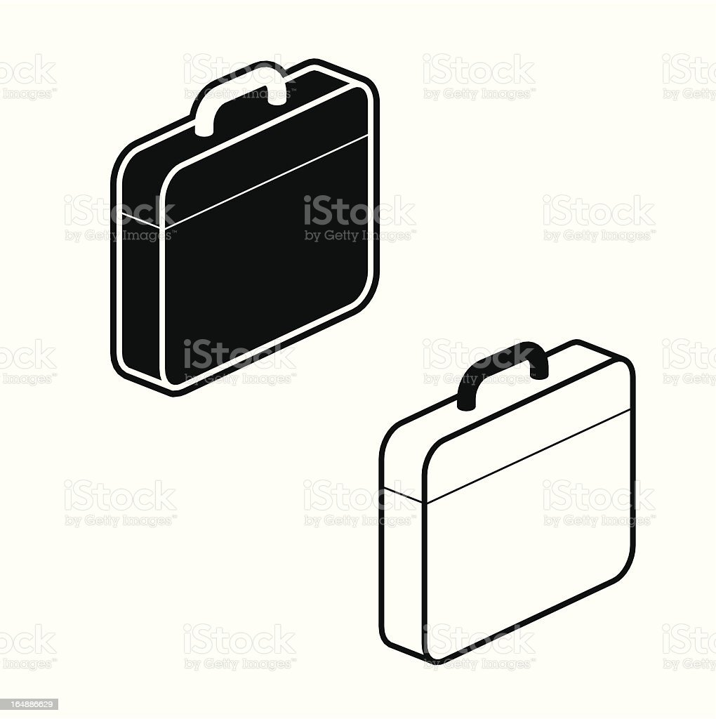 Briefcase icon - part of a series royalty-free stock vector art