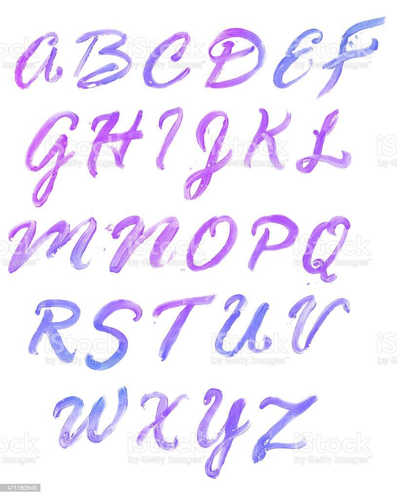 Bright Alphabet vector art illustration