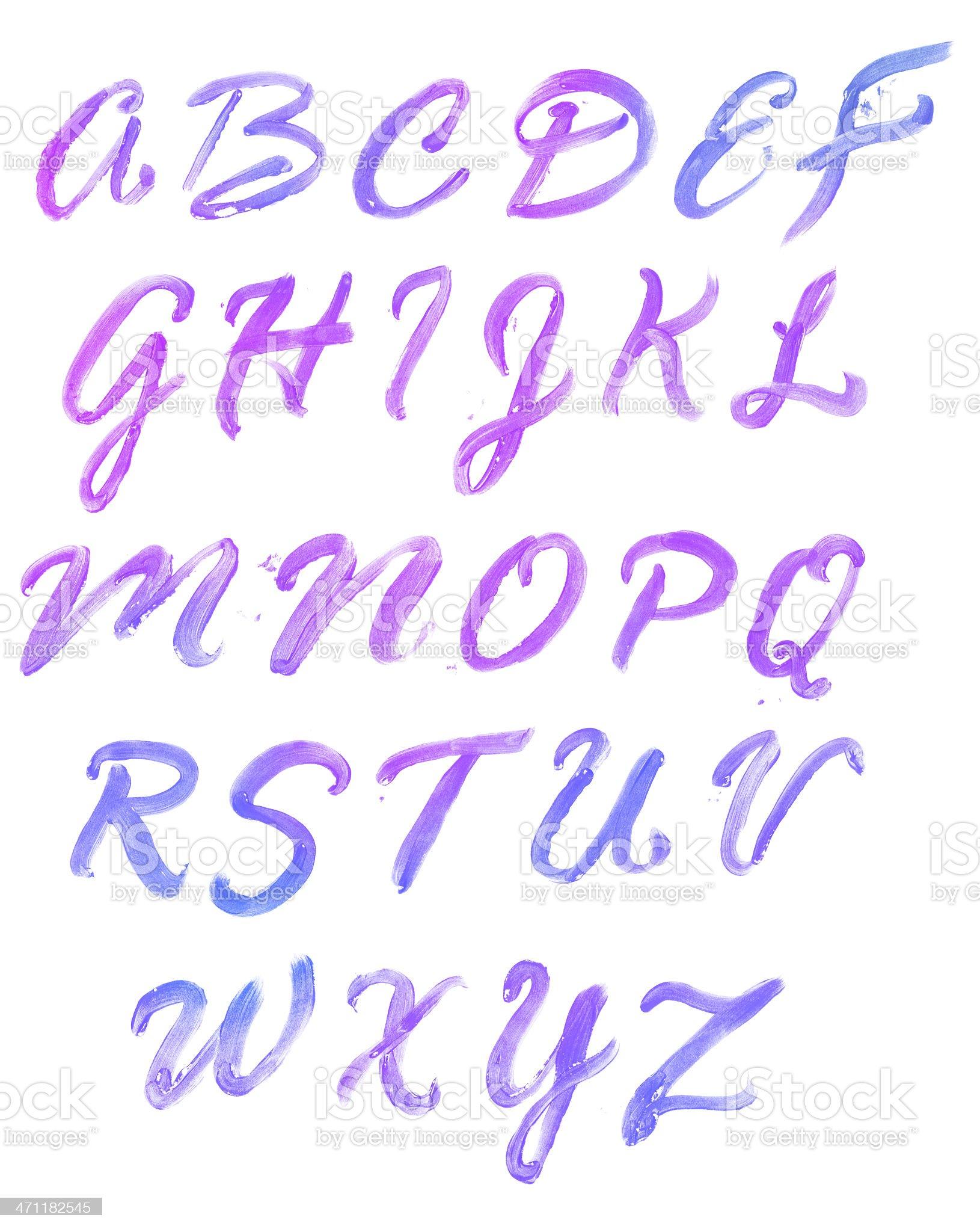 Bright Alphabet royalty-free stock vector art