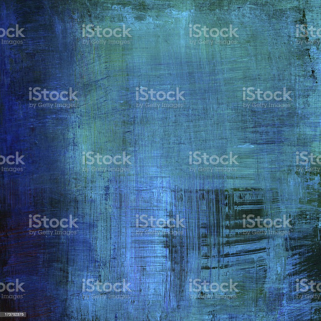 Bright Blue Abstract vector art illustration
