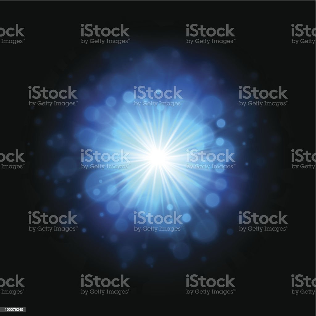 Bright blue explosion royalty-free stock vector art