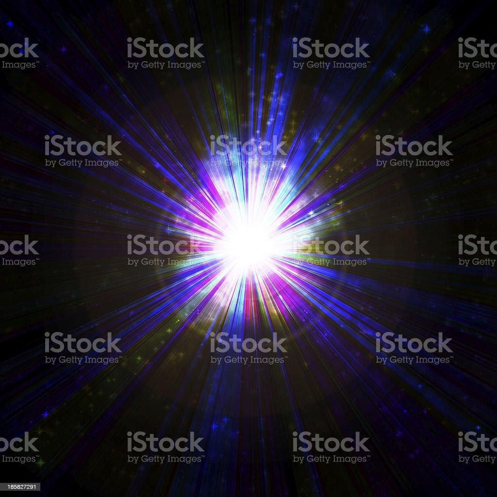 bright blue flash royalty-free stock vector art