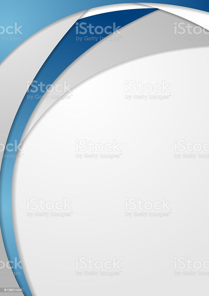 Bright blue grey wavy abstract corporate background vector art illustration