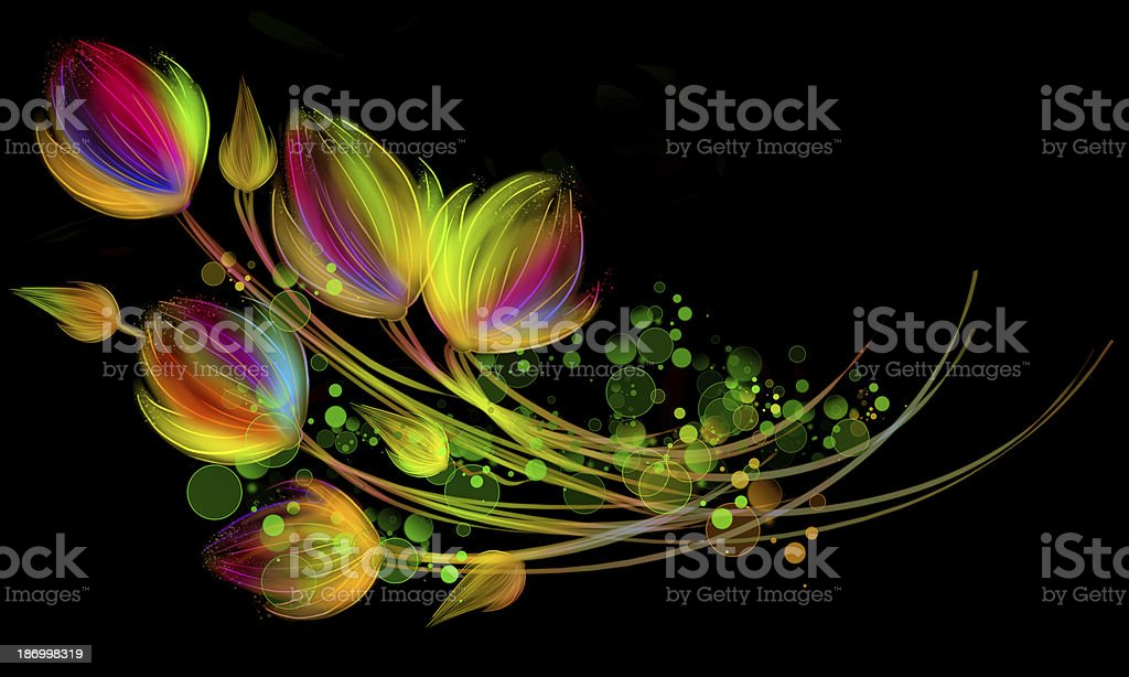 Bright bouquet royalty-free stock vector art