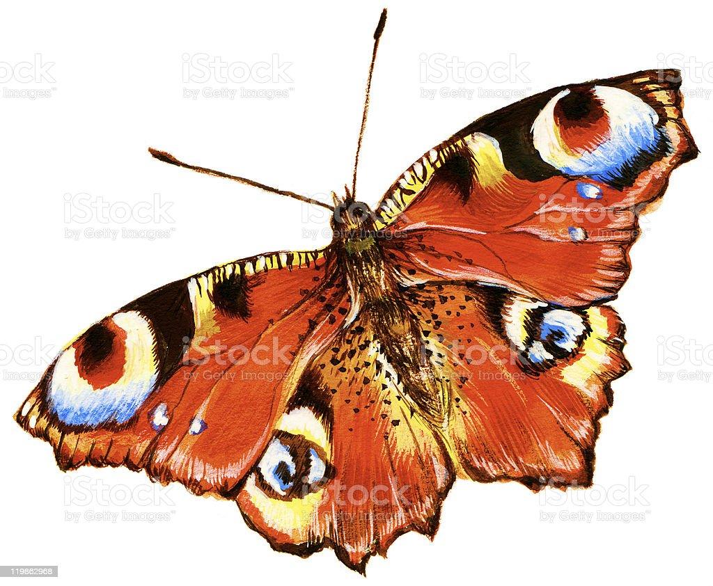 Helle Schmetterling Lizenzfreies vektor illustration
