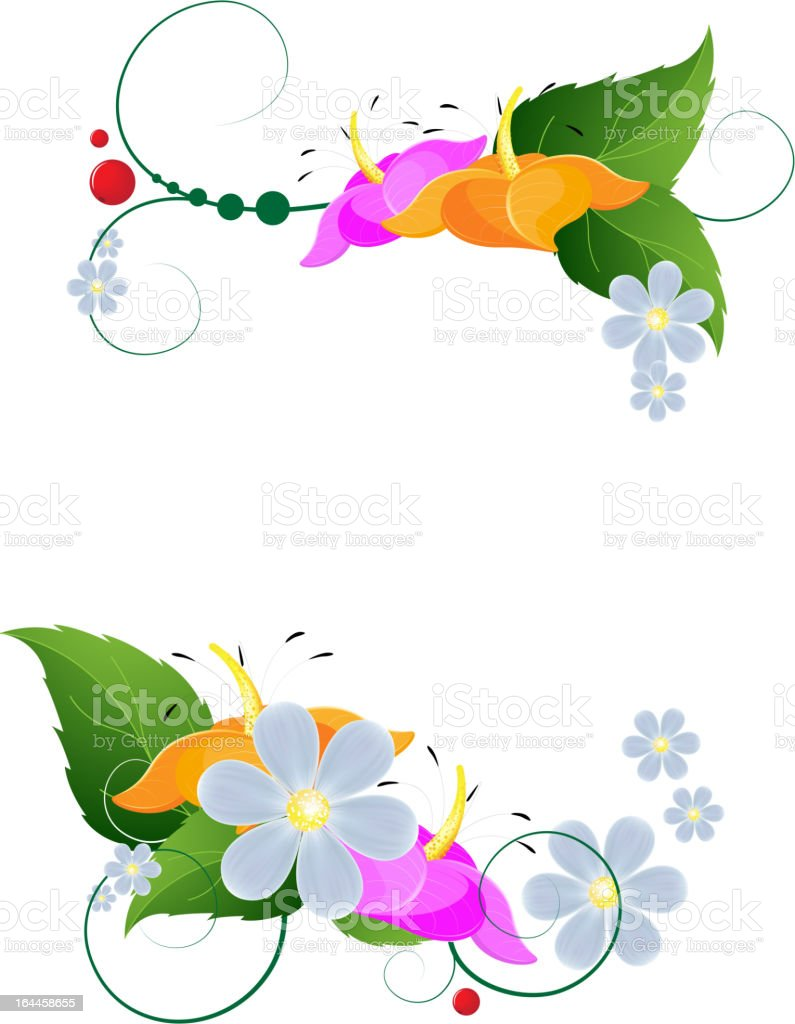 Bright Flower Arrangement royalty-free stock vector art