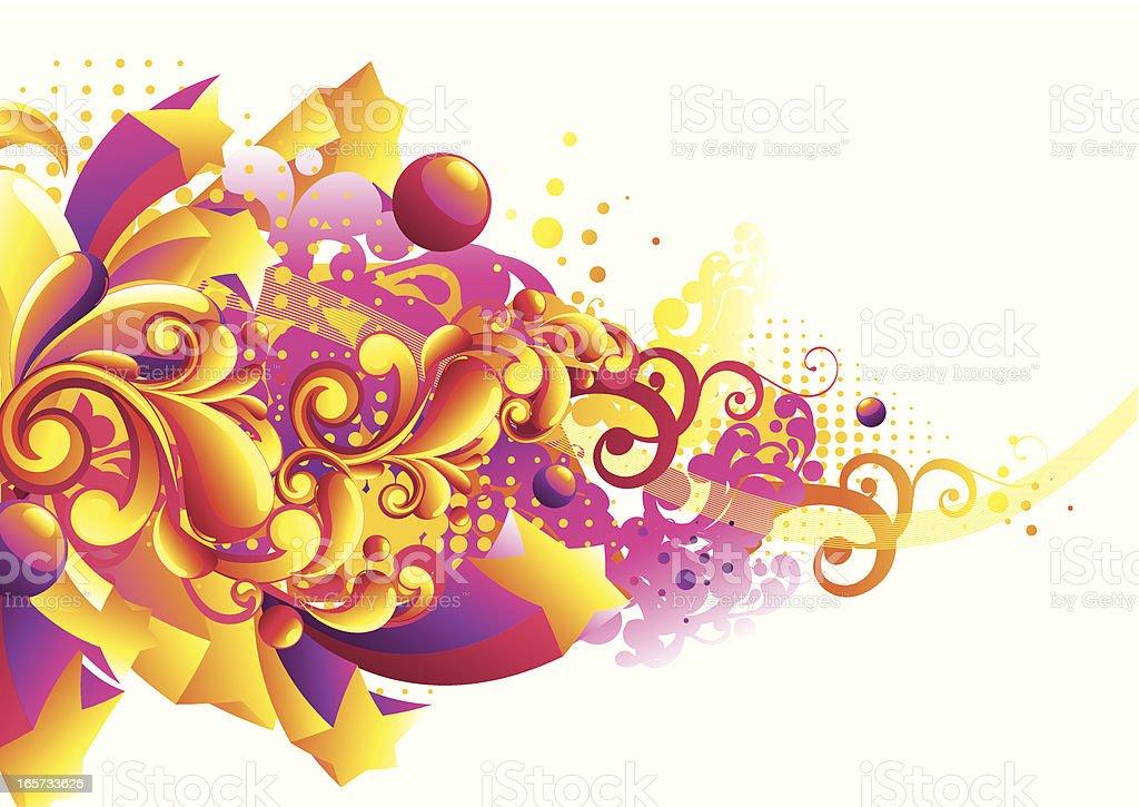 Bright funky background vector art illustration