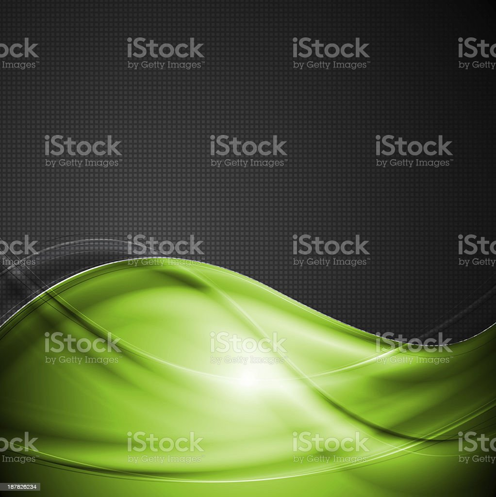 Bright green and black background royalty-free stock vector art