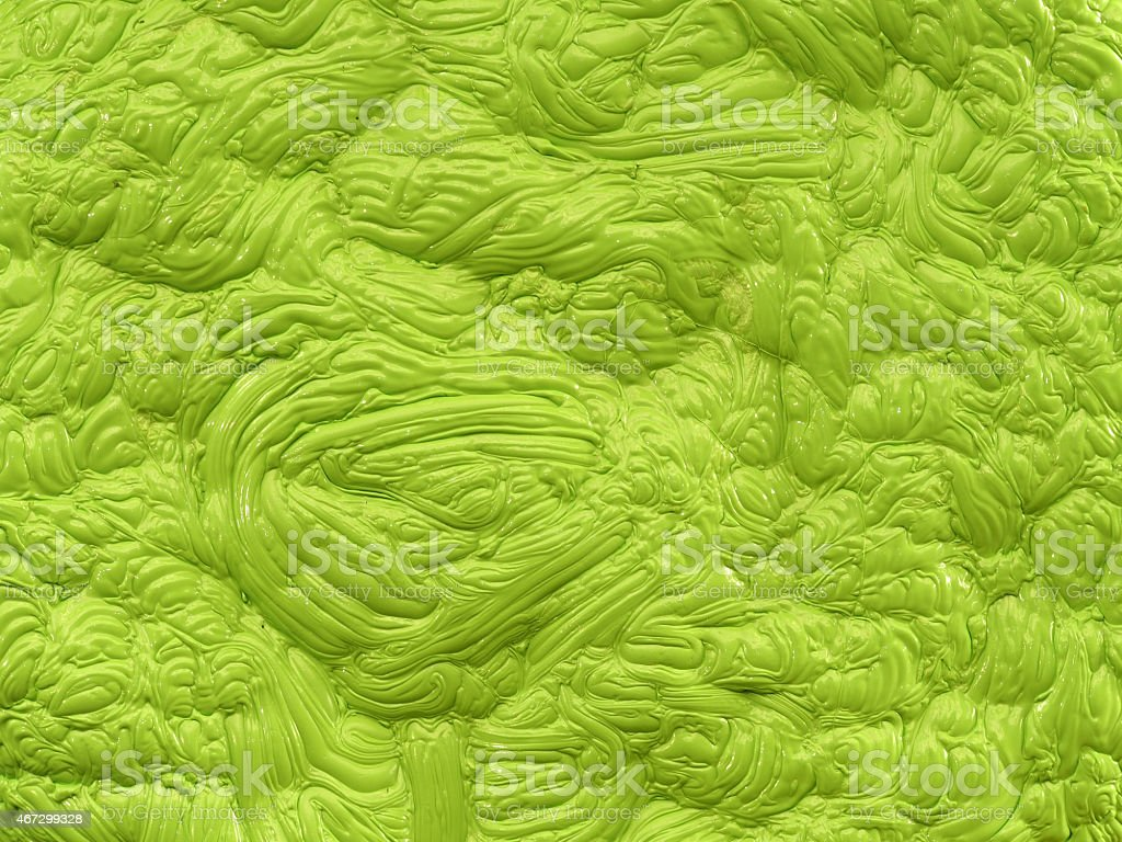 Bright green polymer mass with a gloss flat wave structure vector art illustration
