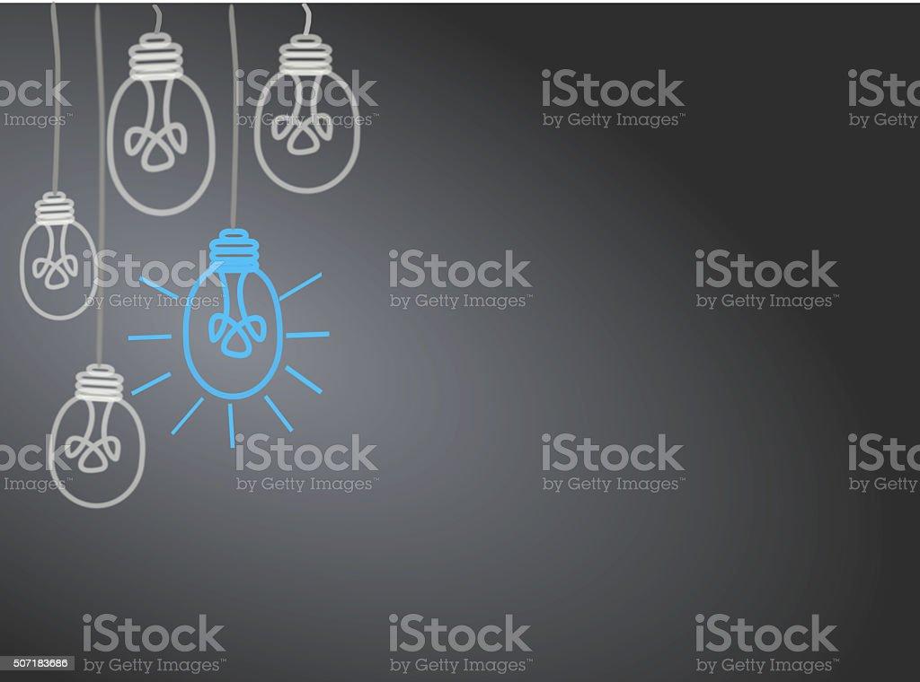 Bright Ideas vector art illustration