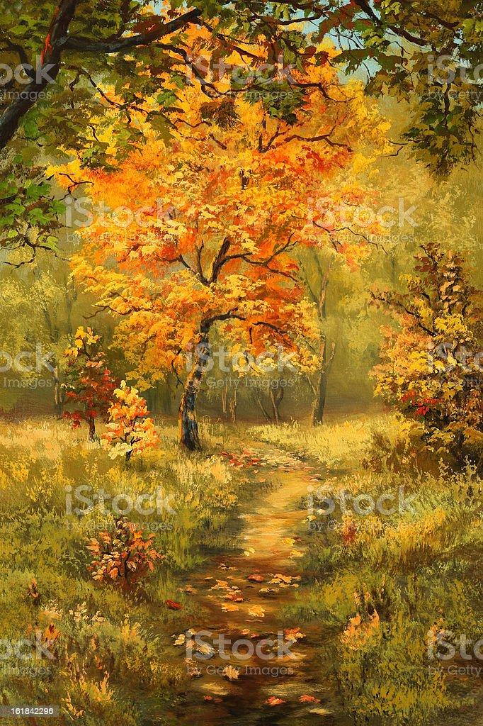 Bright maple vector art illustration