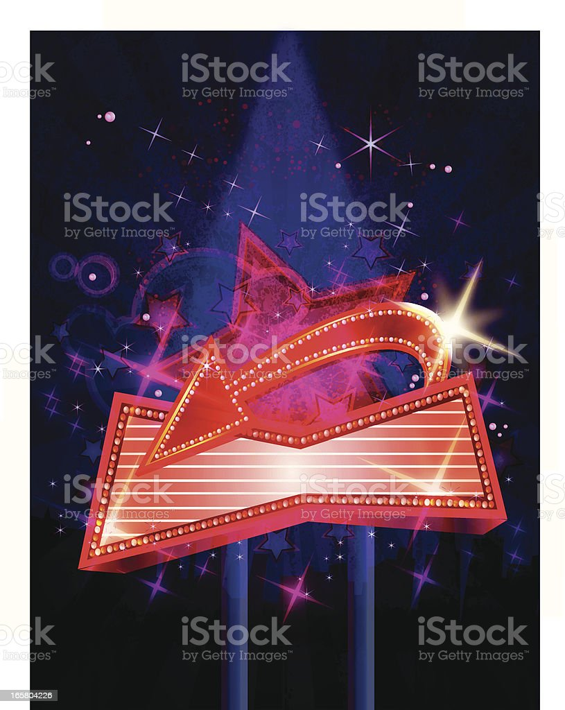 Bright Marquee Display at Night royalty-free stock vector art
