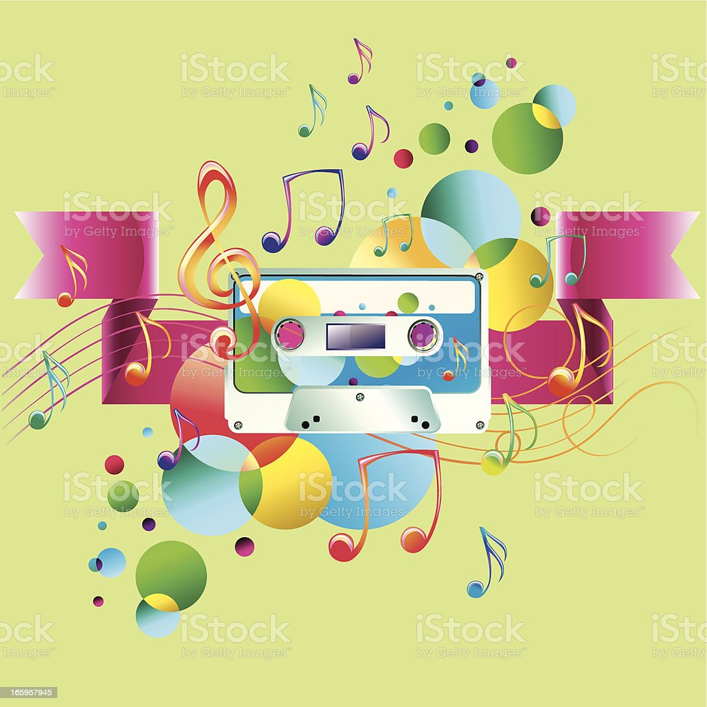 Bright melody royalty-free stock vector art