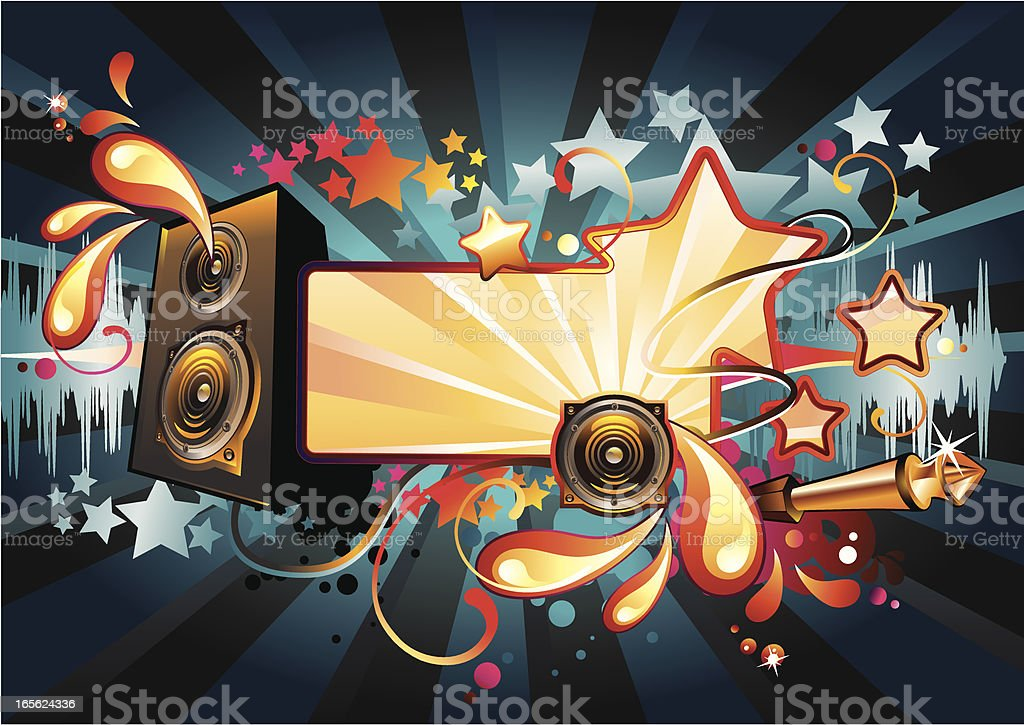 Bright music tag royalty-free stock vector art