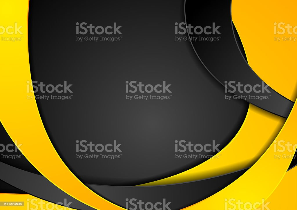 Bright orange wavy abstract corporate background vector art illustration