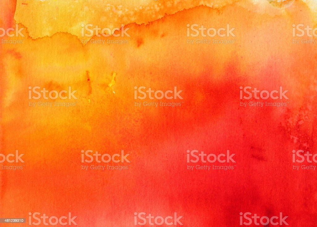 Bright red and orange hand painted background with texture vector art illustration