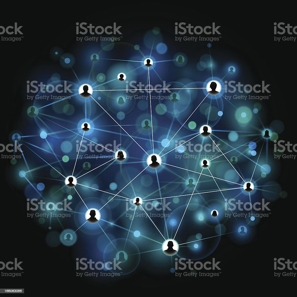 Bright social network background vector art illustration