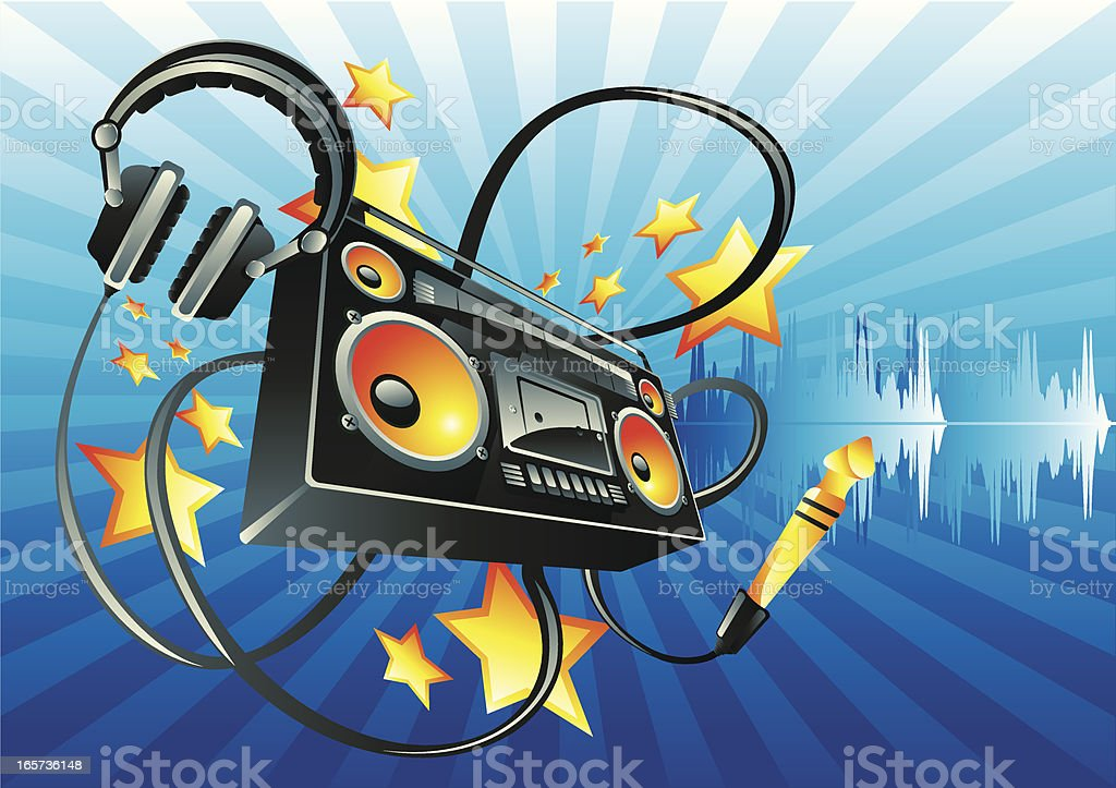 Bright sound royalty-free stock vector art