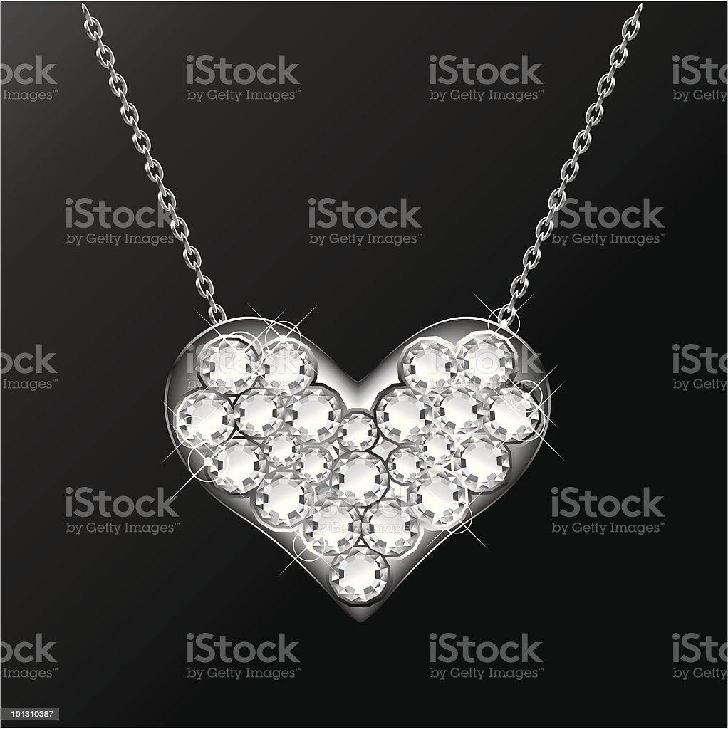 Brilliant Pendant Heart royalty-free stock vector art