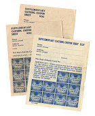 British 1947-48 supplementary clothing coupons