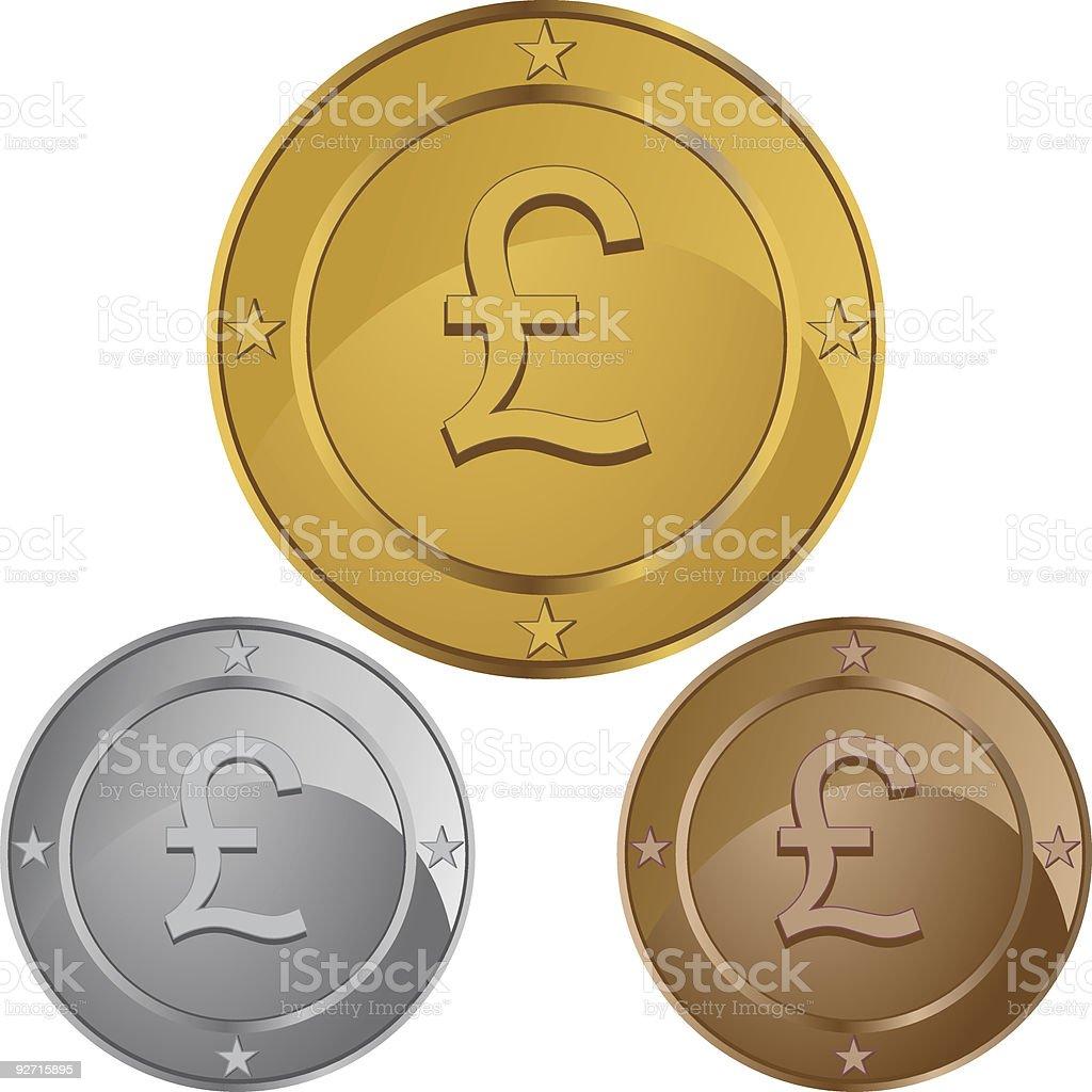 British Coin royalty-free stock vector art