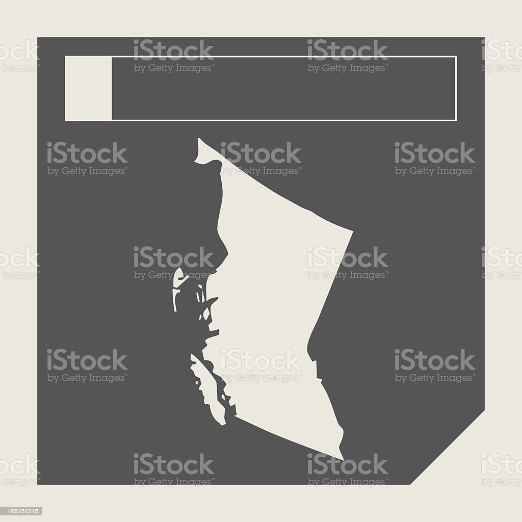British Columbia state in Canada vector art illustration