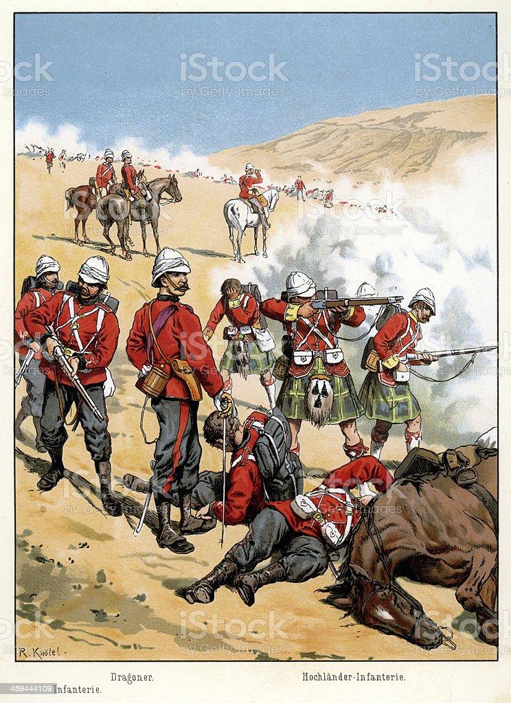 British Empire Military vector art illustration