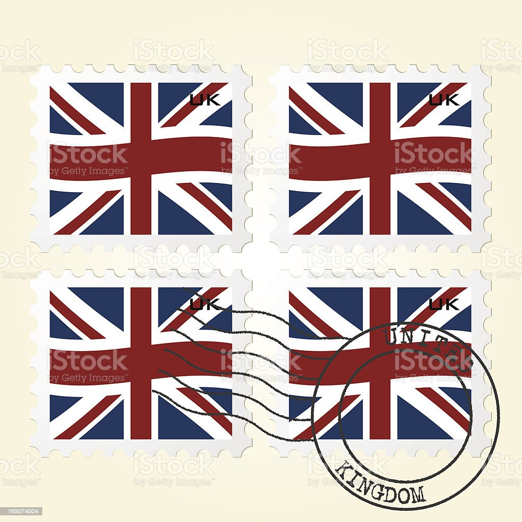 British Flag Maps royalty-free stock vector art