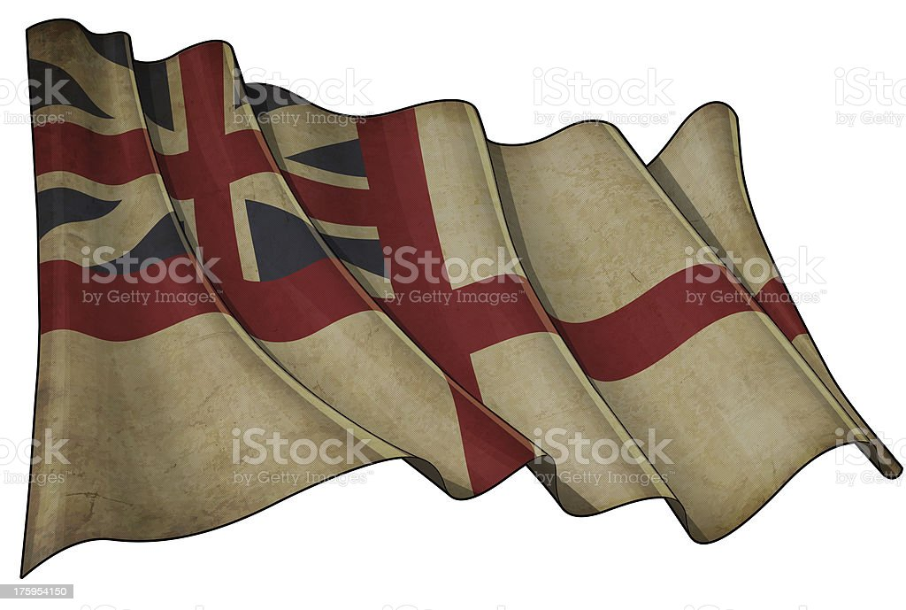 British Naval 1606–1801 (The King's Colours) Historic Flag royalty-free stock vector art