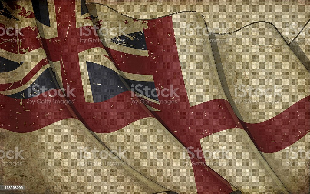 British Navy Flag Old Paper royalty-free stock vector art