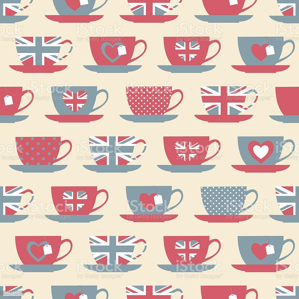 British Teatime Background vector art illustration