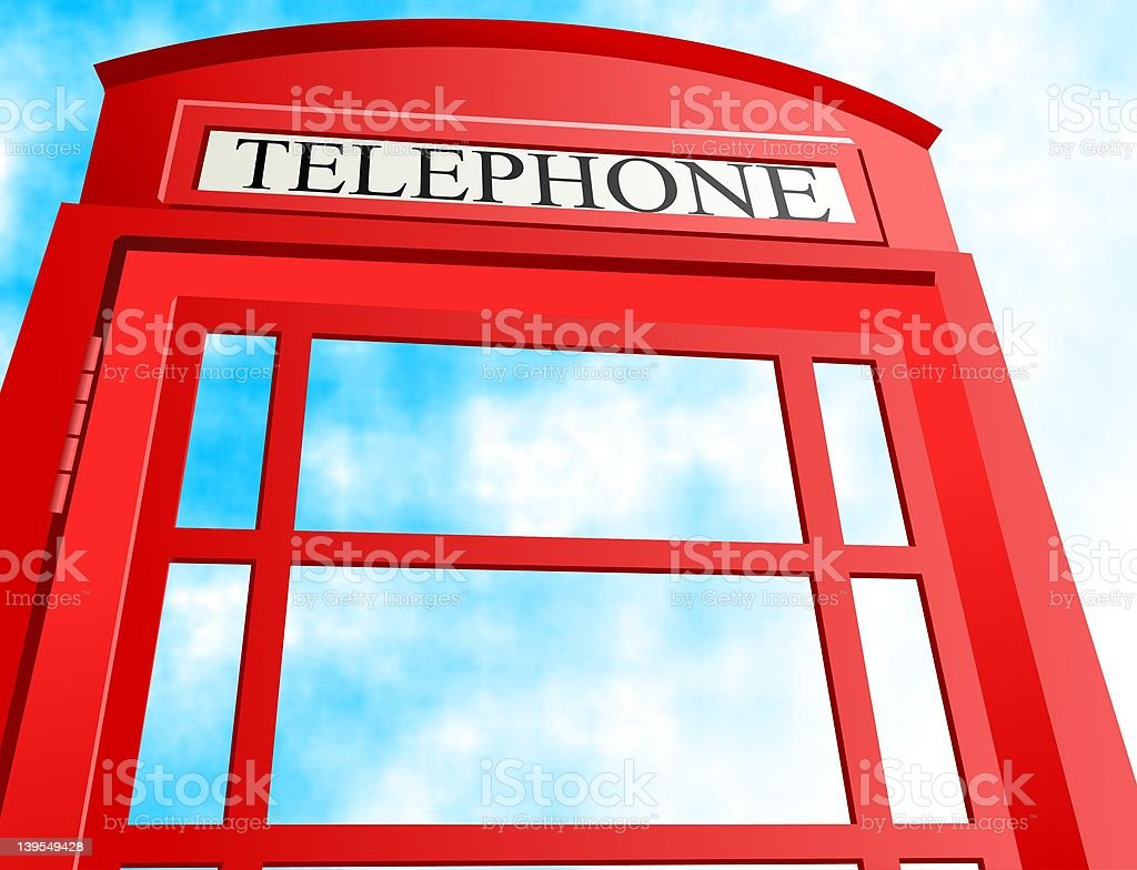 British Telephone Box royalty-free stock vector art