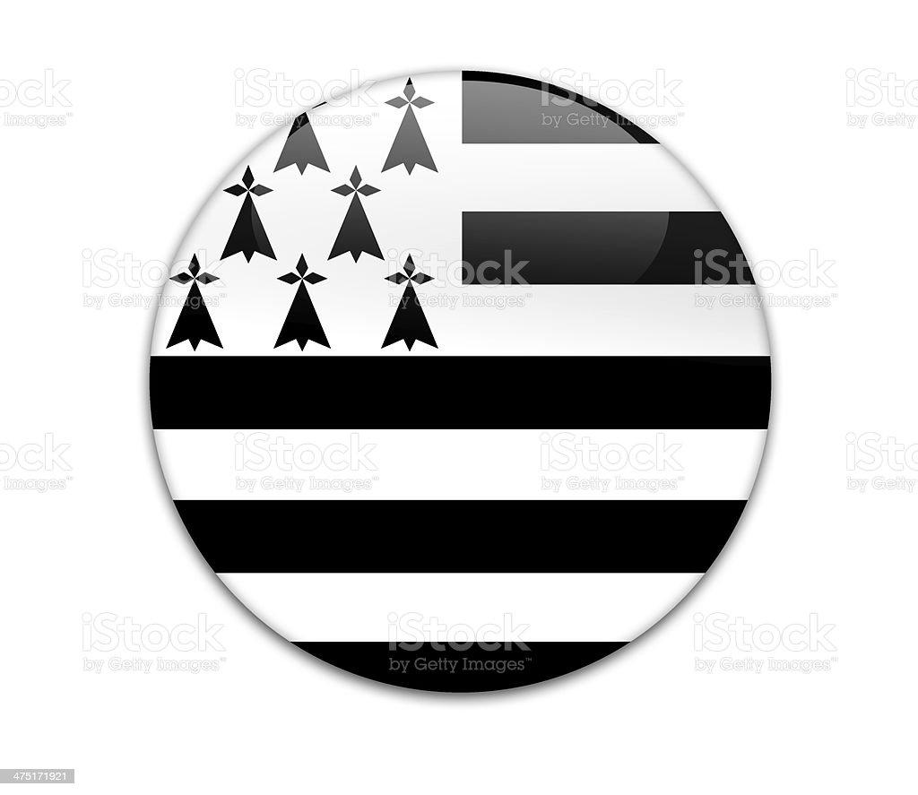 Brittany flag badge. vector art illustration