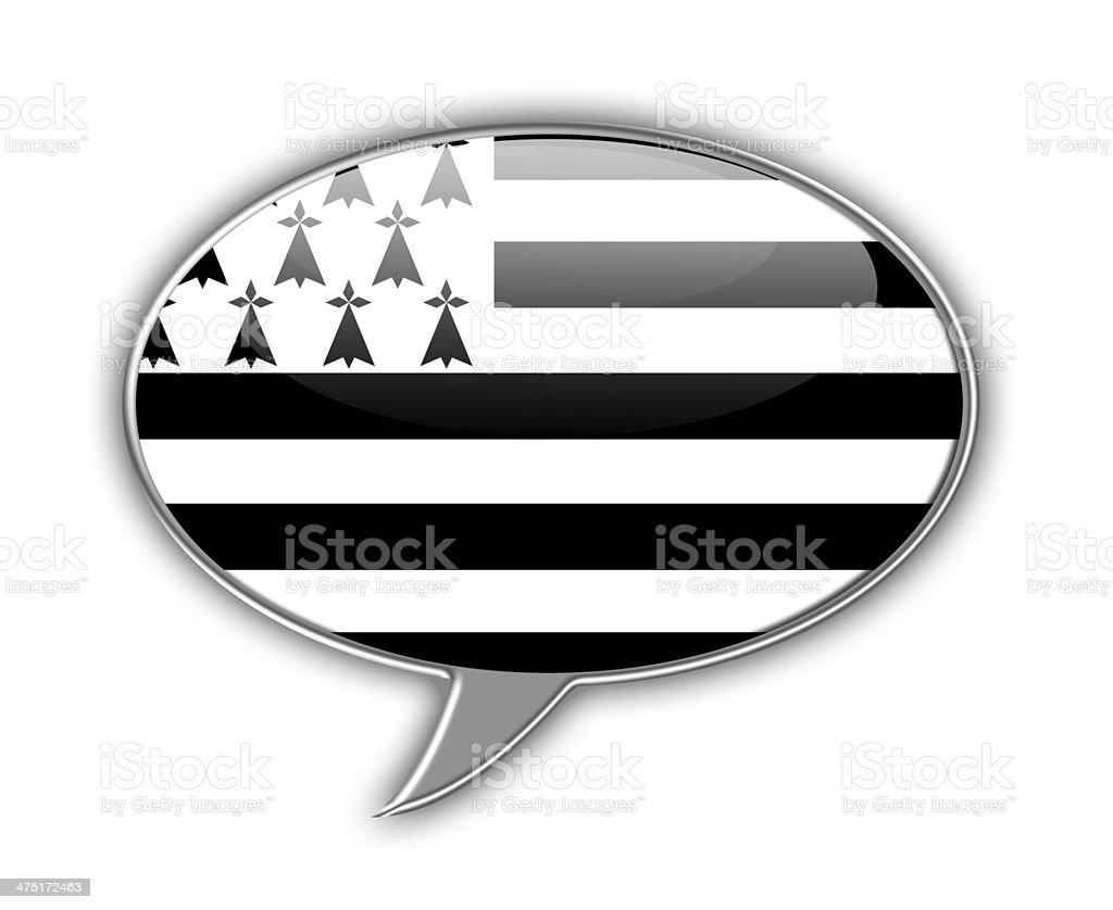Brittany flag speech bubble. vector art illustration