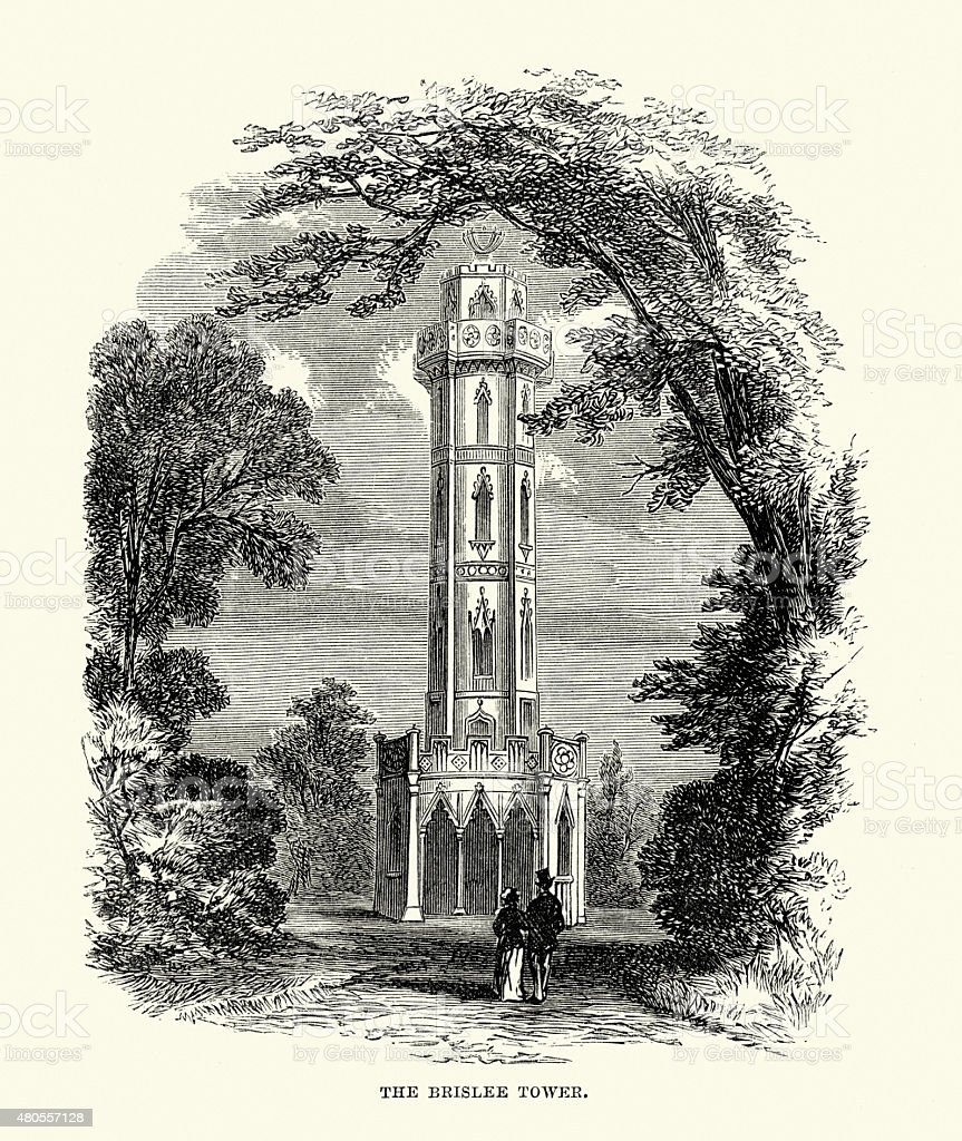 Brizlee Tower vector art illustration