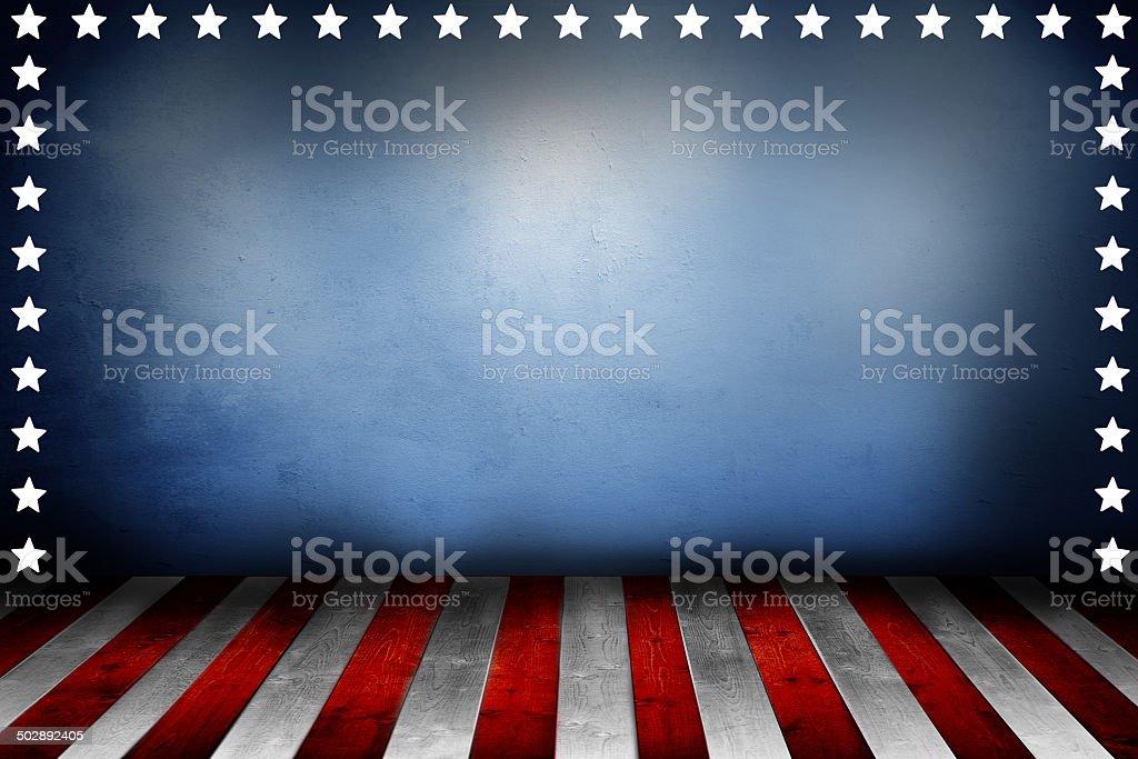 Broad stripes and bright stars vector art illustration