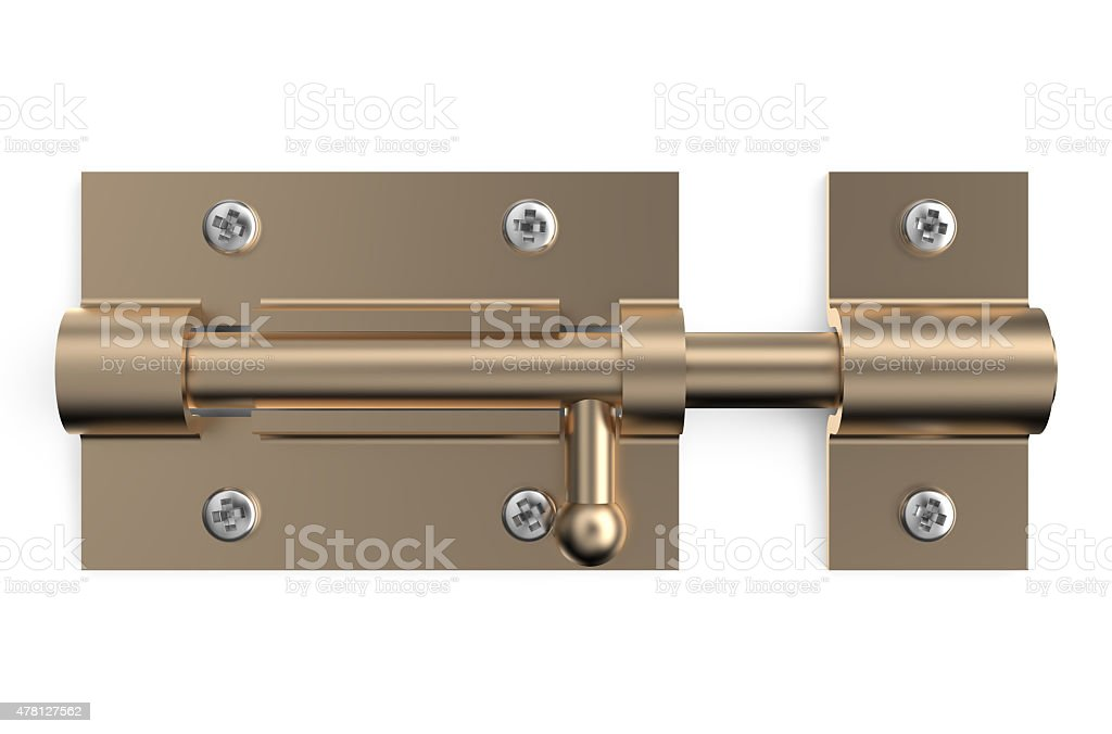 bronze barrel bolt vector art illustration
