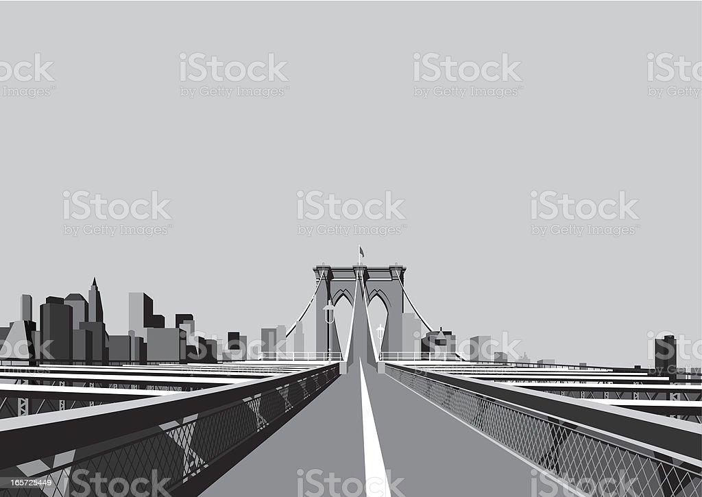 Brooklyn Bridge royalty-free stock vector art
