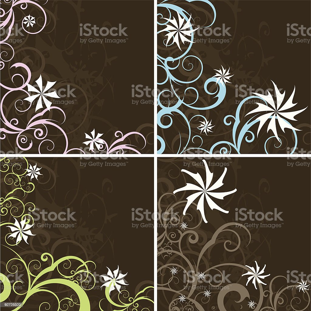 Brown decorative backgrounds royalty-free stock vector art