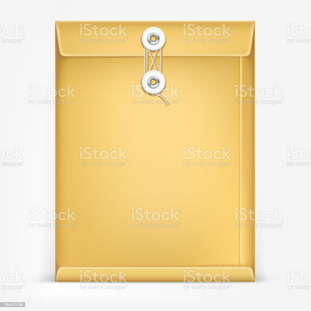 Brown Envelope with rope. royalty-free stock vector art