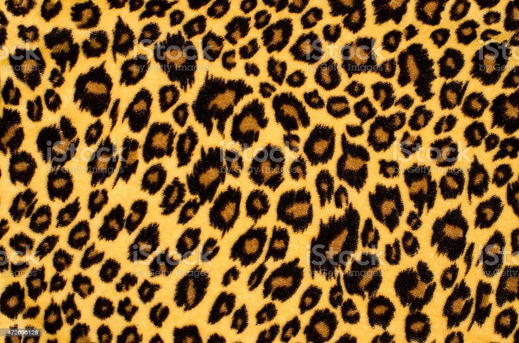 Brown leopard fur pattern. vector art illustration