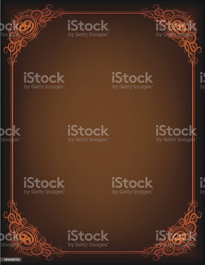 Brown Spooksville Frame royalty-free stock vector art