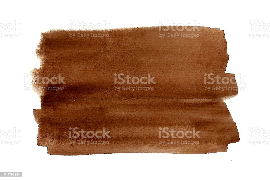 Brown watercolor rectangle vector art illustration