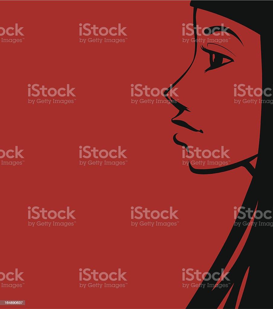 brunette girl royalty-free stock vector art