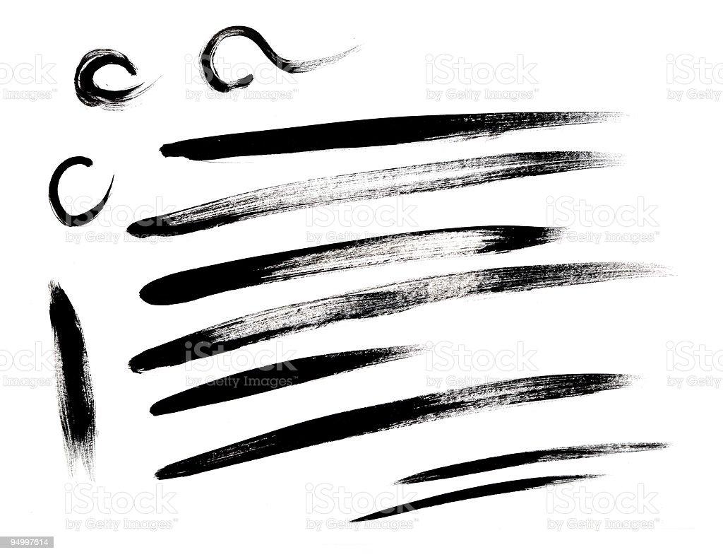 Brush stroke collection vector art illustration