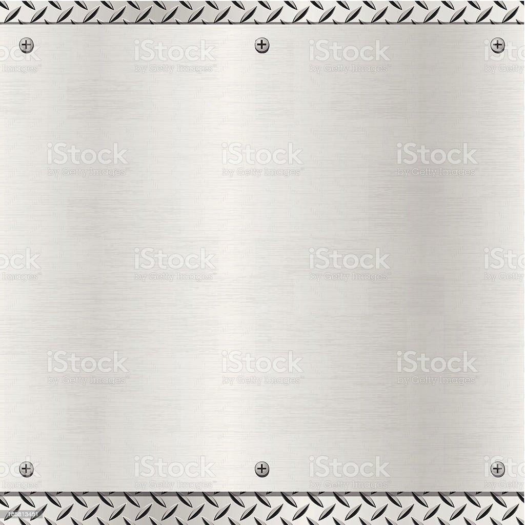 Brushed metal plate royalty-free stock vector art