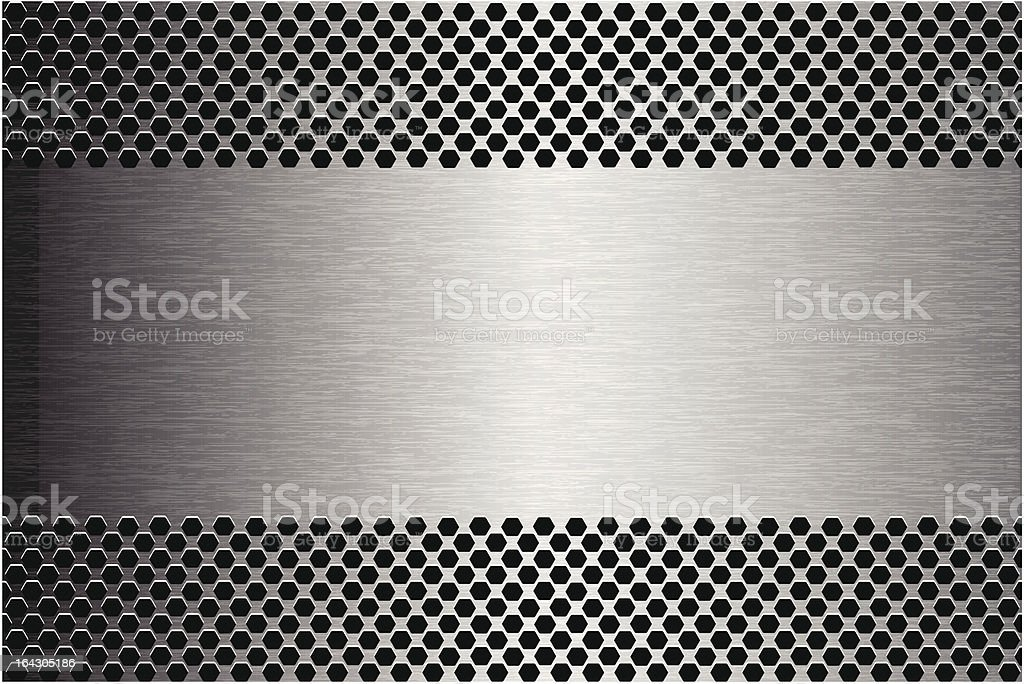 Brushed Metal Texture Banner royalty-free stock vector art