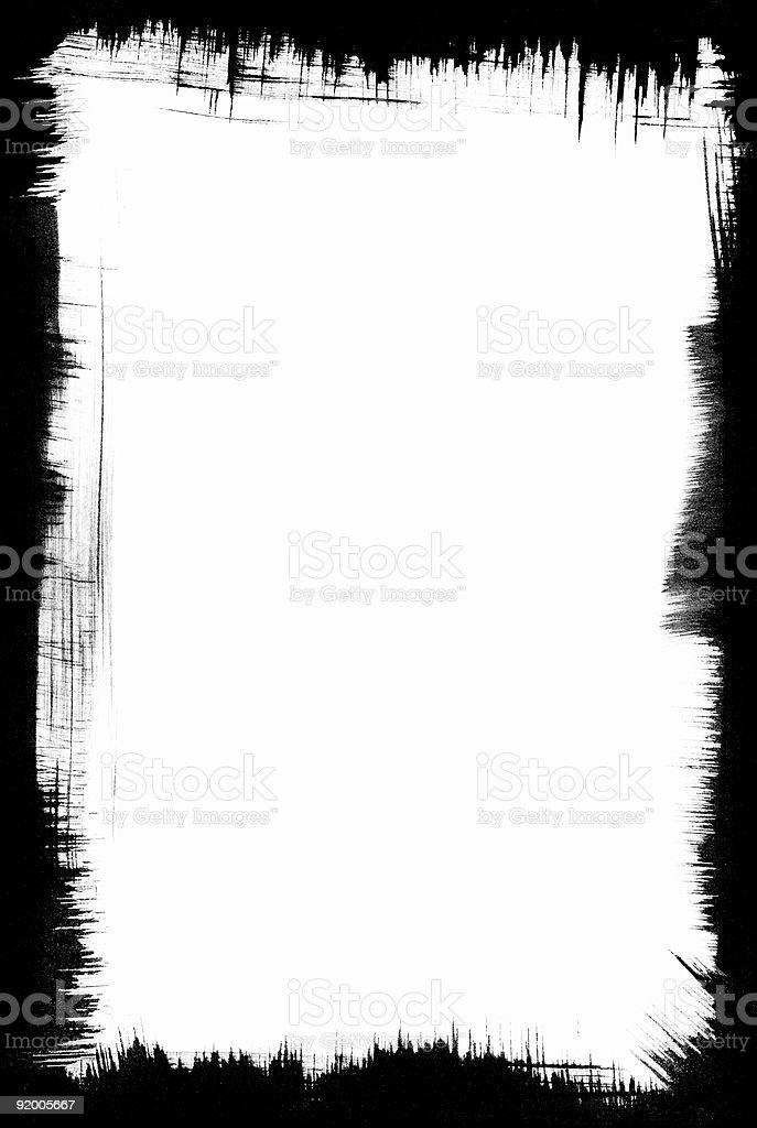 Brush-Stroke Frame royalty-free stock vector art